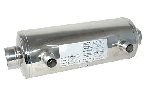 Behncke Wärmetauscher, AWT-40, poliert, 38,5 x 12,5 x 12,5 cm, 95001510