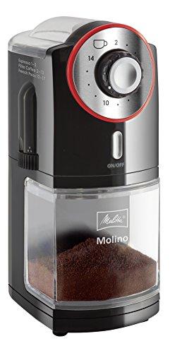 Melitta Kaffeemühle Molino, elektrisch, Scheibenmahlwerk, schwarz 101901