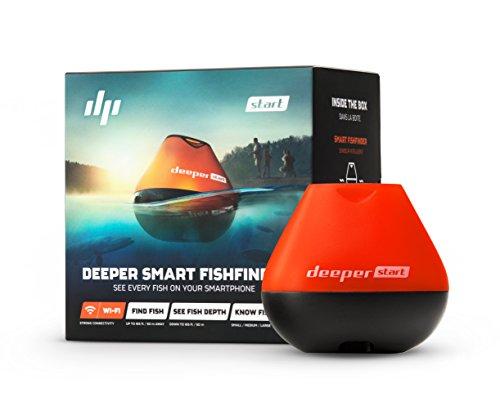 Deeper START smart Fischfinder - leichter kabelloser W-LAN Fischfinder für Ufer Angler
