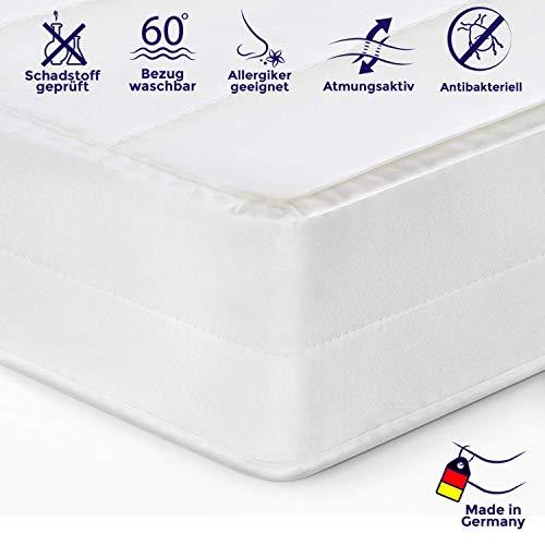 Mister Sandman ergonomische 7-Zonen-Matratze für erholsamen Schlaf - Kaltschaummatratze mit hochwertigem Mikrofaserbezug, 2in1 Härtegrad H2&H3, Höhe 15cm (140 x 200 cm, H2&H3)