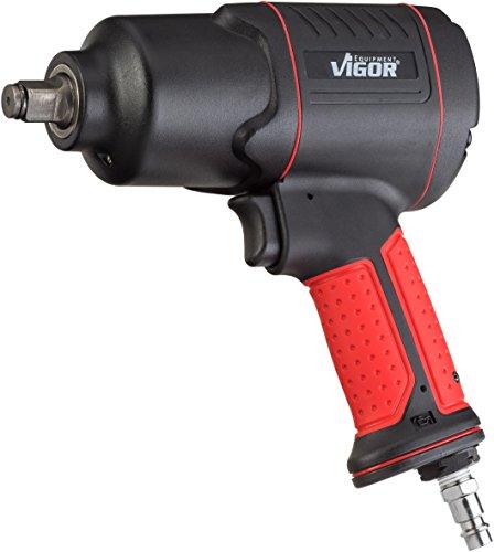 Vigor Druckluft-Schlagschrauber (max. Lösemoment 1200 Nm, Vierkant 12,5 mm (1/2 Zoll), Hochleistungs-Doppelhammer-Schlagwerk) V4800