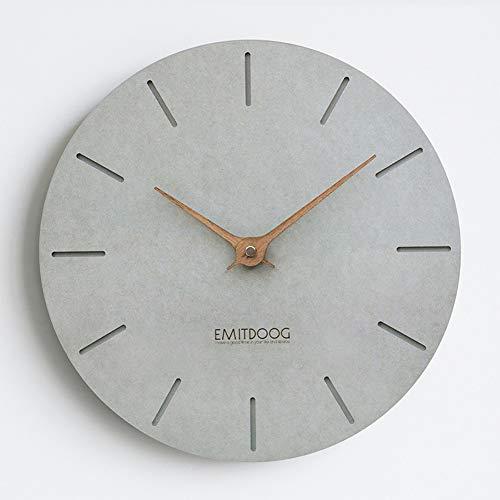 PANCY Wanduhr ohne Tickgeräusche die Uhr ohne Sekundenzeiger Absolute Ruhe lautlos 12'(29cm×29cm), Ideale Wohnaccessiores (Grau3)