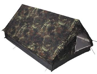 Zelt 'Minipack', flecktarn, Gr. 213x137x97cm, Moskitonetz