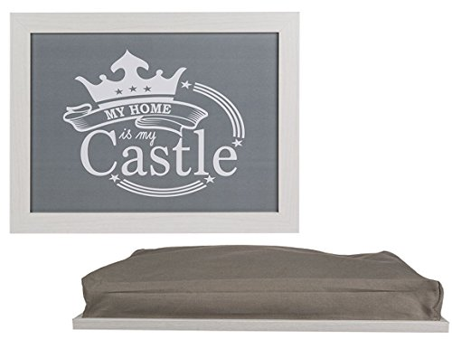 Bada Bing Kissentablett My Home Is My Castle Holz Grau Kissen Tablett Deko 97