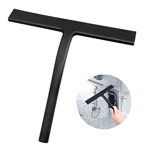 Duschabzieher Silikon Duschwischer mit Edelstahl-Kern für Streifenfreie Reinigung, Fensterabzieher Badezimmerwischer, Abzieher Dusche für Spiegel Fenster Glasreinigung