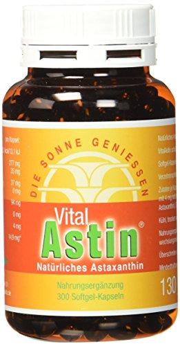 Astaxanthin - versandkostenfrei - VitalAstin 300 Kapseln - Das Original Ivarssons VitalAstin mit 4 mg natürlichem Astaxanthin - Antioxidans