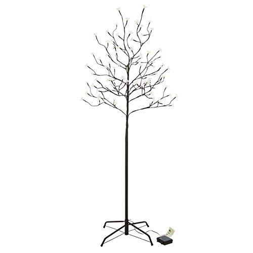 96 LED Baum mit Blüten Blütenbaum Lichterbaum warm weiß 150 cm hoch Batterie Timer IP44 Weihnachtsbeleuchtung Weihnachtsdeko Xmas