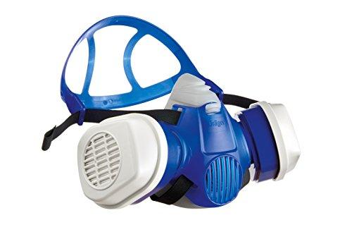 Dräger X-plore 3300 Atemschutz-Set inkl. ABEK1 Hg P3 | Halbmaske für Arbeit mit Chemikalien | Atemschutz-Maske gegen Gase, Dämpfe, Fein-Staub und Partikel