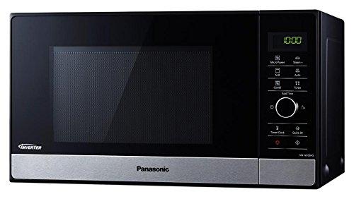 Panasonic NN-GD38HBGTG Kombi-Mikrowelle mit Grill und Dampfgarer / Steamer / 1.000 W / Pizzapfanne / 23 L / Edelstahl-Schwarz