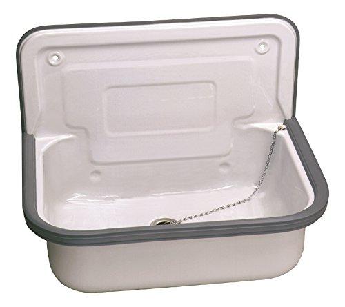 Stahl Ausgussbecken | Glasiert | 50 cm | Waschbecken | Keller | Waschküche   Garage   Garten