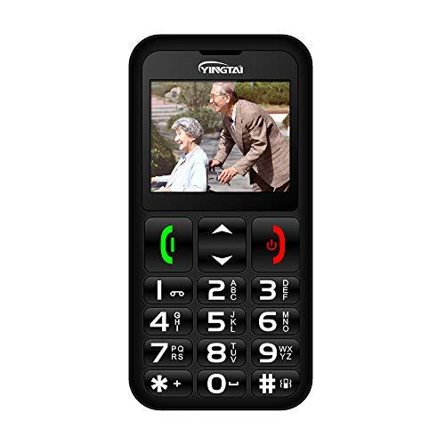 Seniorenhandy mit Großen Tasten Handy Einfach und Notruffunktion mit SOS-Taste by YINGTAI T11 2G