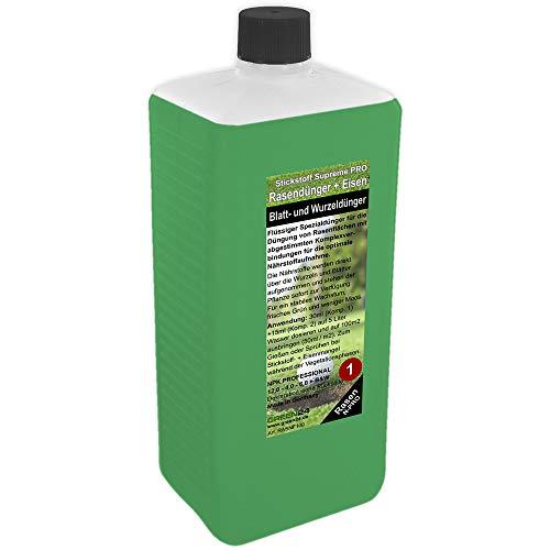 GREEN24 Rasen-Dünger Stickstoff Nachfüllpack XL 1 Liter für Rasen-Dünger Set Rasendünger flüssig für perfekten Rasen (Nachfüllpackung Stickstoff XL 1 Liter)