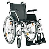 Bischoff Rollstuhl S-Eco 300 Sitzbreite 49 cm Pannensichere Bereifung Duo-Armlehnen Faltrollstuhl Reiserollstuhl