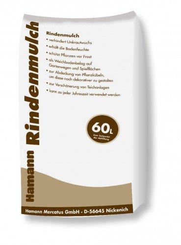 Hamann Rindenmulch 0-40 mm 60 l Garten-Mulch zum Schutz & dekorativen, kreativen und individuellen Gestaltung