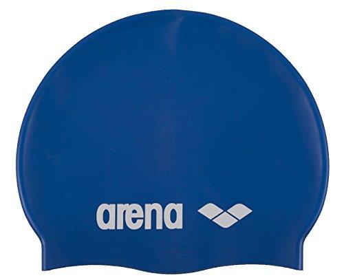 arena Kinder Unisex Wettkampf Badekappe Classic Silikon Junior (Verstärkter Rand, Weniger Verrutschen), Skyblue-White (77), One Size
