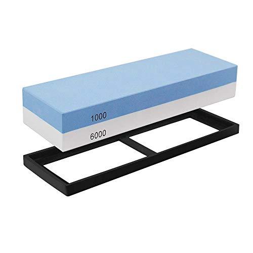 Schleifstein, Xpassion 2-in-1 Messerschärfer Schleifstein-Set 6000/1000 Wasser Abziehstein Schleifen Wasserschleifstein