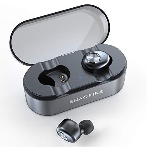 Bluetooth Kopfhörer, ENACFIRE E18 Plus Bluetooth 5.0 In-Ear Sport Kabellose Ohrhörer mit eingebautem Mikrofon, Headset 48h Spielzeit APTX HD-Klangqualität Wireless Charging CVC8.0, IPX8