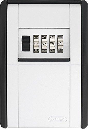 ABUS Schlüsseltresor KeyGarage 787 für die Wandmontage | individuell einstellbarer Zahlencode | wetterfest | passend für Schlüssel und Plastikkarten | schwarz | 46331