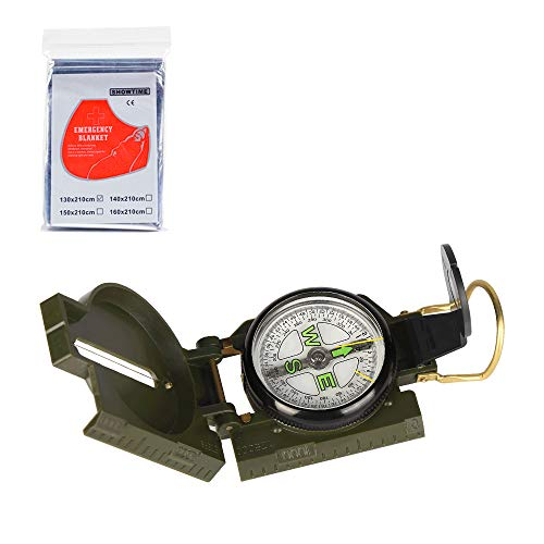Etmury Kompass ,Militär Marschkompass, Professioneller Taschenkompass ,Peilkompass Kompass Compass