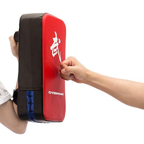 Overmont 2x PU Leder Schlagpolster Schlagkissen Kickschild Boxsack für Kickboxen Thaiboxen Karate UFC MMA 40cm*20cm*10cm