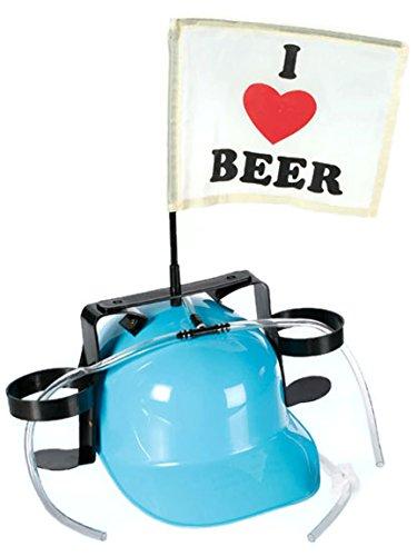 Bada Bing Bierhelm BLAU Verkleiden Trinkhelm JGA Bauhelm Getränkehalter Bierhalter Karneval 066