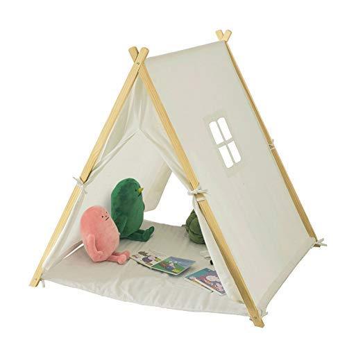SoBuy OSS02-W Spielzelt Zelt für Kinder mit 2 Türen und einem Fenster Spielhaus Weiß BHT ca.: 104x110x100cm