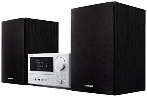 Onkyo Europe Electronics CS-N575D-SB Multiroom CD-Hi-Fi-System mit integrierter Chromecast-Technologie, Dual-WiFi, LAN, Spotify Connect silber