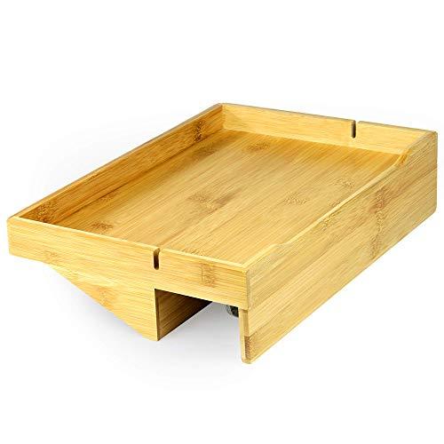Bamboo Clip - On Nachttischregal | Ergonomischer Space Saver Beistelltisch | Einzigartige Holzbettrahmenklemme | M & W