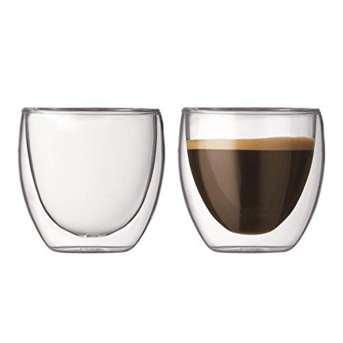 Bodumpavina Gläser/Espressogläser-Set (Doppelwandig, Isoliert) Transparent