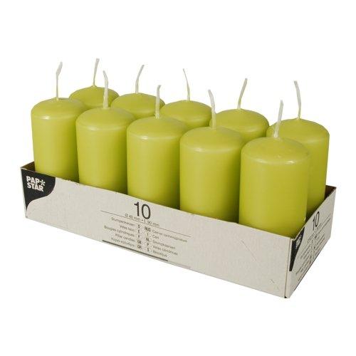 Stumpenkerze - 40 x 90 mm - 10 Stück/Paket - verschiedene Farben