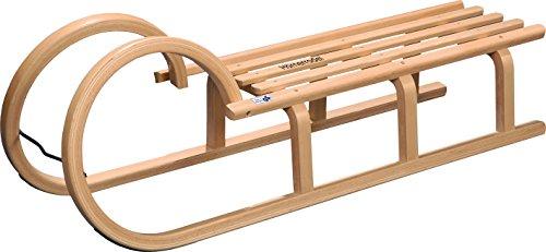 COLINT Hörnerschlitten 110 cm TÜV/GS geprüft Holzschlitten Schlitten Holz Rodel Hörner HCL 40110