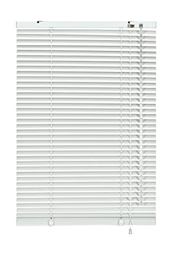 Deco Company Alu-Jalousie zum Klemmen, Sicht-, Licht- und Blendschutz, Alle Montage-Teile inklusive, Aluminium-Jalousie, Weiß, 50 x 130 cm (BxH)