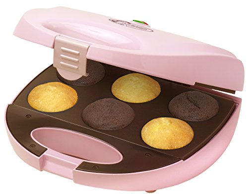 Bestron DCM8162 Cupcake Maker, rosa, für 6 Cupcakes