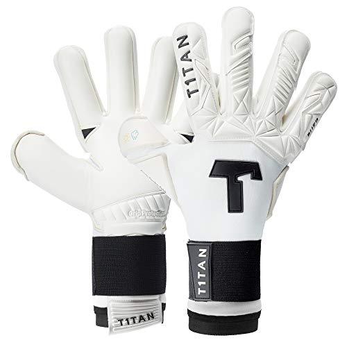T1TAN Alien White-Out 2.0 Torwarthandschuhe für Erwachsene, Fußballhandschuhe Herren Innennaht und 4mm Profi Grip - Gr. 12