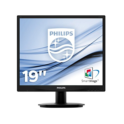 Philips 19S4QAB/00 19 cm (19 Zoll) Monitor (VGA, DVI, 1280 x 1024, integrierte Lautsprecher), schwarz