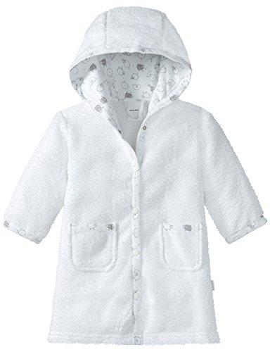 Schiesser Unisex Baby Bademantel, Weiß (Weiss 100), 92 (Herstellergröße: 414)
