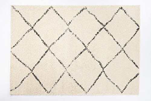STOCKHOLM Moderner Vintage Designer Teppich in creme, Größe: 160x230 cm