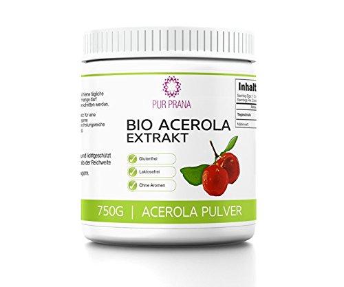 Pur Prana Bio Acerola Vitamin C Pulver Superfood Acerolapulver Kirsche 750g