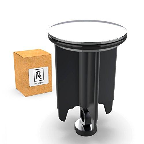 M. ROSENFELD Premium Waschbeckenstöpsel 40mm aus Messing mit Chrom - universaler Abflussstopfen mit Gummi für Waschbecken im Bad und Bidets - Excenterstopfen - Höhenverstellbar, Rostfrei & Dicht