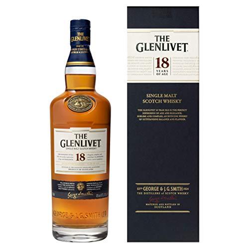 The Glenlivet 18 Jahre Single Malt Scotch Whisky – Scotch Single Malt Whisky aus der Speyside Region – 1 x 0,7 L