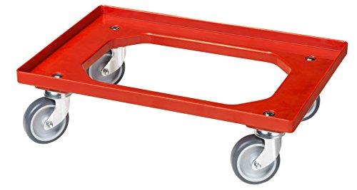 Transportroller für Kisten 60 x 40 cm mit 4 Lenkrollen
