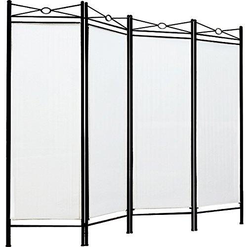 Paravent Lucca creme 4tlg 180x163cm - Raumteiler Trennwand Spanische Wand Sichtschutz