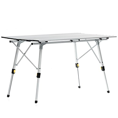 Skandika Outdoor Alu Falttisch Tisch, Grau, 6