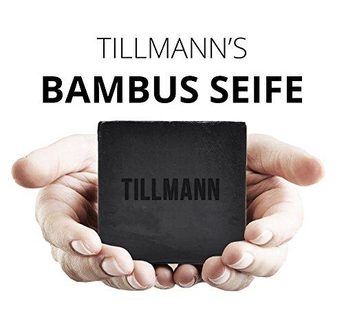 Natürliche Schwarze Seife I Bambuskohle Handgemachte Seife I Bamboo Charcoal reinigt Ihre Haut porentief Seife von Tillmann's Entschlackender Gesicht & Körperreiniger, gut gegen Akne Ekzem Natürliche Pflege von Tillmann's Deutschland