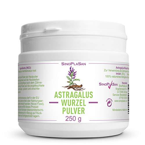 Astragalus-Wurzel-Pulver (Astragalus membranceus) | 250g | 100% naturrein ohne Zusätze | höchste Qualität | VEGAN | Meshfaktor 80 | Tragant