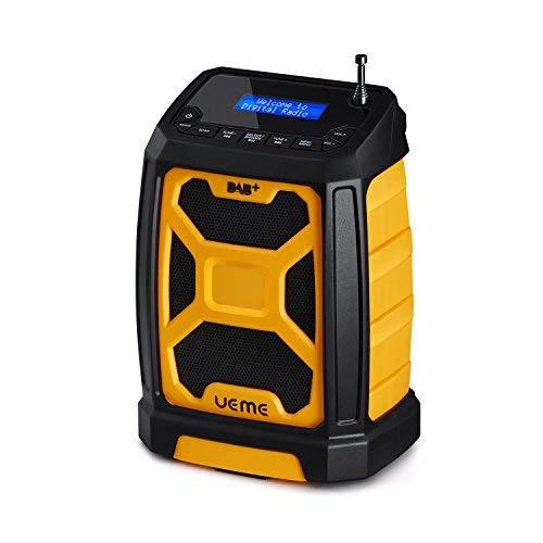 UEME Tragbares DAB+ FM Radio mit Bluetooth & Aux Anschluss, Digitalradio DAB/DAB+ Radios DB-326 (Gelb-Schwarz)