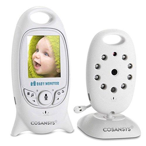 Babyphone mit Kamera Video Baby Monitor Gegensprechfunktion Digital (Nachtsicht, Temperatursensor, Schlaflieder ), 2.0 Zoll LCD