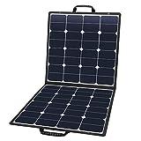 SUAOKI 100W Solar Ladegerät 2-Port Beweglicher Solar Panel Ladegerät (18 V DC bis 5V USB Dual Ausgang Ladegerät) für Laptop, Akku, Netz Bank, iPad, iPhone und Andere Digitale Geräte