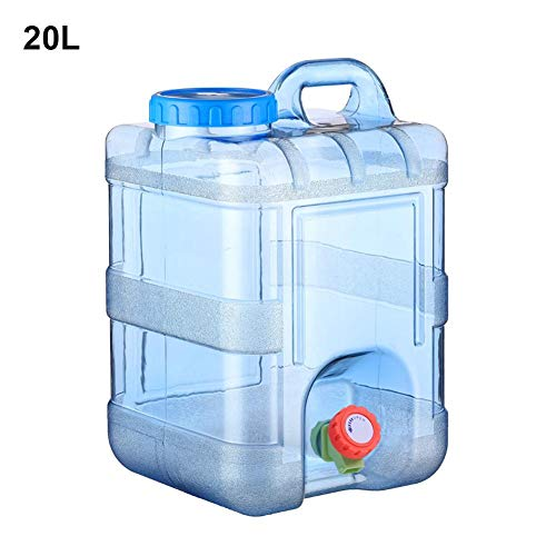 15L/20L Wasserkanister Tragbarer Eimer Auto Wasserbehälter mit Hahn BPA-frei Kunststoff Verdickt Platz Camping Wassertank für Outdoor Reise Kampierendes Nach Hause Trinkender Speicher-Eimer