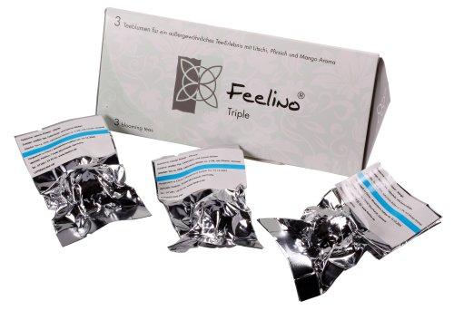 Feelino 3er-Box Weißtee-Teeblumen mit Litschi, Mango- und Pfirsich-Aroma 'Feelino triple' in toller Probier Geschenkbox, 1er Pack